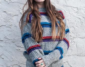 80s striped sweater