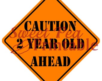 Customizable Caution Sign for Construction Birthday Party