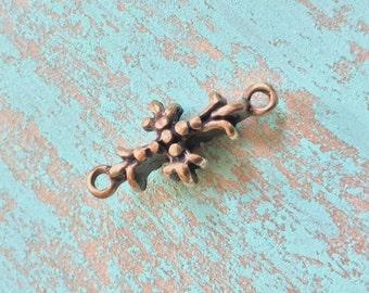 Cross Maltese Pendant Connector Small, Antiqued Bronze