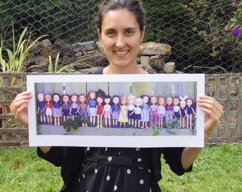 Limited Edition Signed Print of Tree Change Dolls® Class of Feb 2015, by Sonia Singh