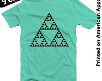 Sierpinski Triangle American Apparel T-shirt S-XXL Fractal, Geometrical, Physics, Mathematics, Higgs, Einstein, Bohr, Cool