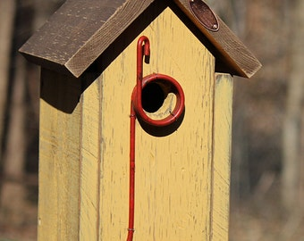 Rustic Birdhouse ~ Yellow