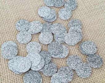 Silver Glitter Circle Confetti,Wedding Confetti,Bridal Shower,Baby Shower,Silver Wedding Decor,Silver Glitter Decor,Birthday,Party Confetti