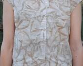 Eco-print shirt // eucaly...