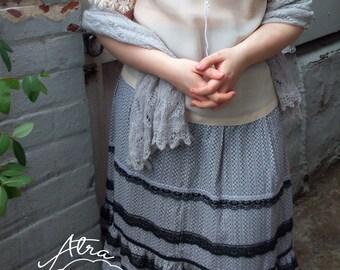 Vintage Mori Girl Lace Blouse 50's
