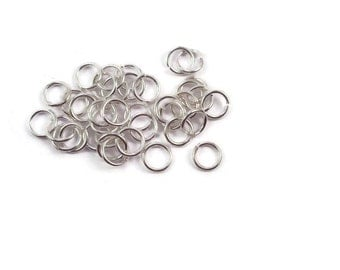 150 Jump Rings Silver 5.5mm 21 Gauge - Free Combined Shipping