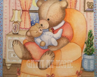 Mother bear - Illustration watercolor