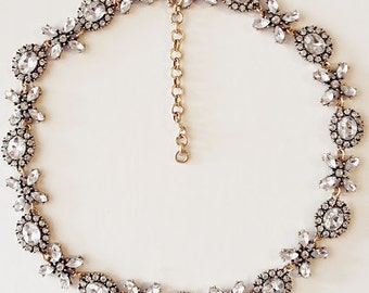 XO Crystal Statement Necklace
