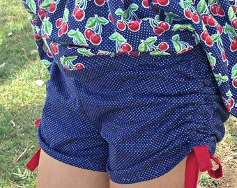 Breanna's Peekaboo Shorts, Capris & Pants. PDF sewing pattern for toddler girl sizes 2t - 12.