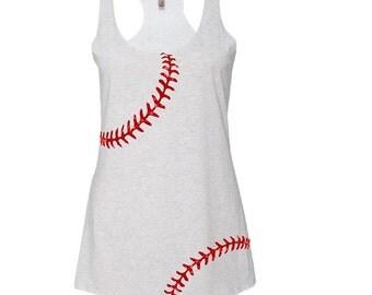 Baseball Mom Tank.Glitter Tank Top.Relaxed Tank.Baseball Mom.Custom Baseball Shirt. Baseball Tank.Softball Mom Tank Top. Custom Shirt.