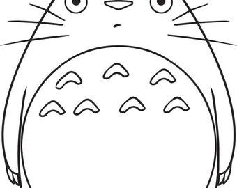 Cute Vinyl Totoro Decal