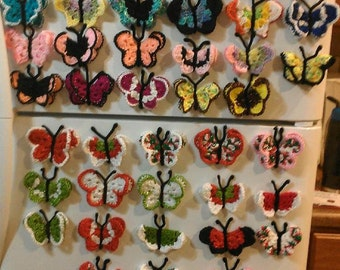Adorable Hand-Crocheted Butterfly Magnets