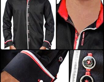 Men's Rockstar Style Designer Dress Shirt - Made To Order in USA