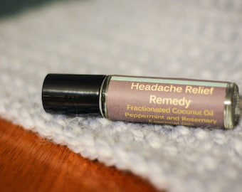 Headache and Migraine Oil Blend Remedy-all natural with essential oils