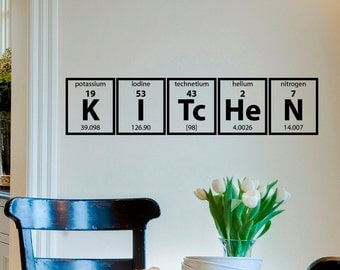 Periodic Table Of Elements Wall Decal Vinyl Sticker Kitchen Cooking Vinyl  Lettering Family Wall Decals Murals