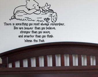 Wall Decals Quotes Winnie The Pooh You Are Braver Than