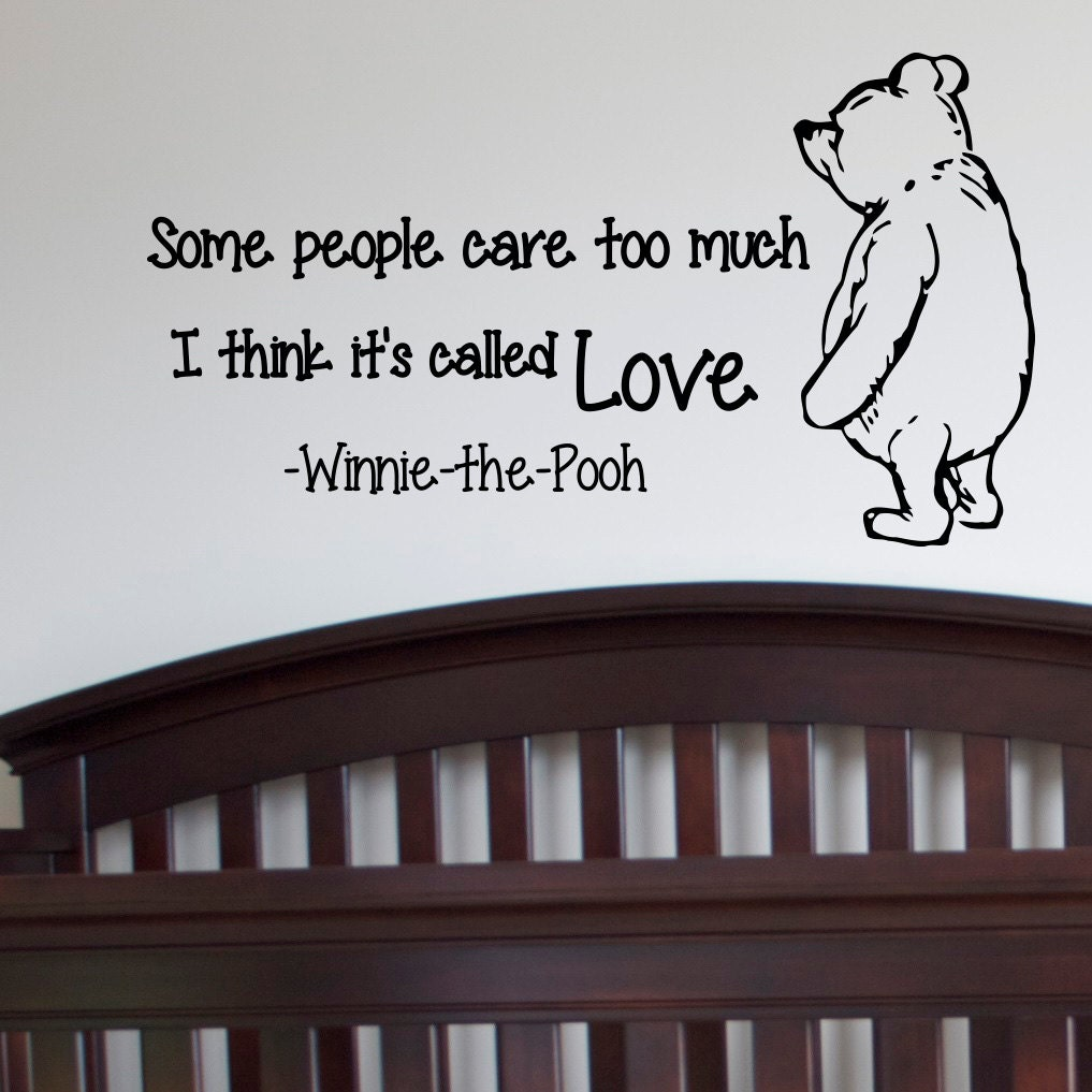 Winnie The Pooh Wall Quotes: Wall Decals Quotes Winnie The Pooh Wall Decal By FabWallDecals