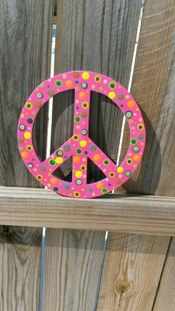 Peace Sign Wall Hanging Peace Sign Wall Decor By