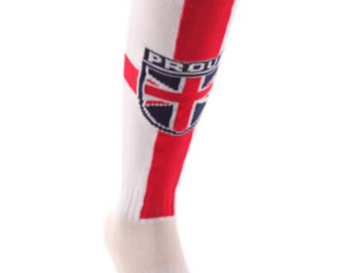 Samson® Union Jack Proud Funky Socks Sport Knee High Sport Football Rugby Soccer