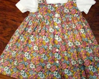 Little Girl's 2-piece Cotton Jumper Dress
