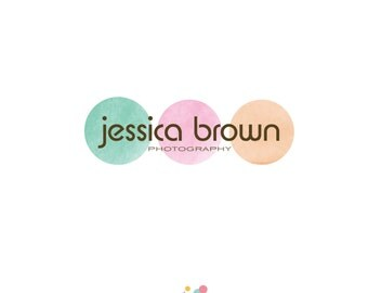 premade logo design, watercolor logo, scrapbooking logo, crafts