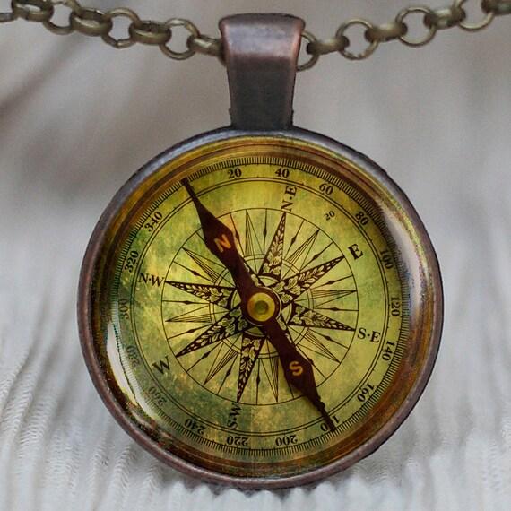 Vintage Compass Pendant - Hardcore Pussy