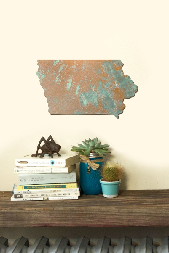 Wall Decor Out Of Wood : Iowa state wood cut out silhouette wall art decor house