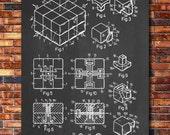 Rubik's Cube Patent Print Art 1983