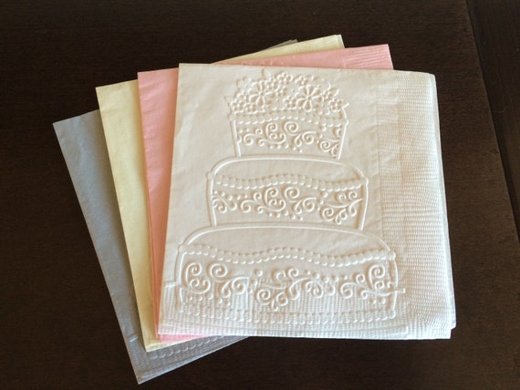 wedding cake paper napkin cocktail napkin wedding by steshaparty