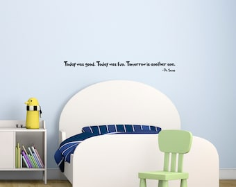 "Dr Seuss Wall Decal Wall Quote Sticker (36"" x 3.44"") Kids Room Gift Ideas"
