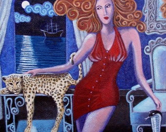 Waiting for Lady Evil. Picture. Paintig. Acrylic