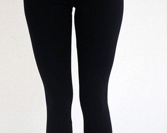 Black Leggings, Black Lace Leggings, Black Tights, Basic Leggings, Yoga Leggings By eesha