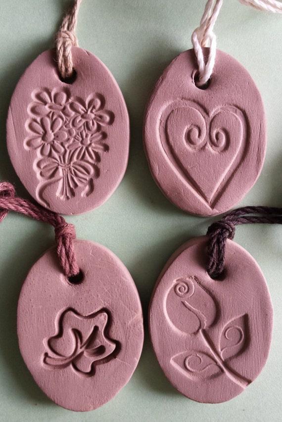 Terracotta Neck Pendant Diffuser ~ Essential oil diffuser necklace natural terra cotta clay