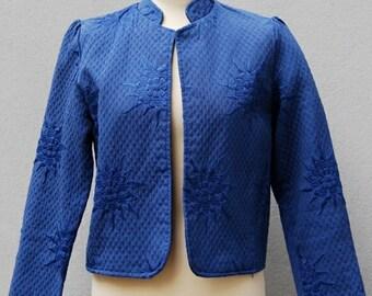 ON SALE // Vintage 70s quilted ASIAN boho floral jacket