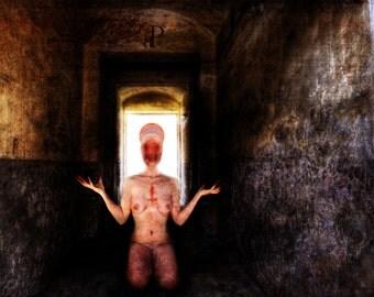 "Satanic Art Print, ""Blind Faith"", Dark, Macabre, Blasphemy"