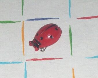 PIN Ladybug 70's LADYBUG brooch Vintage 1970 Pin Up Rockabilly Mod Pop Art Miss swinging 1960 1950 London GoGo Girl