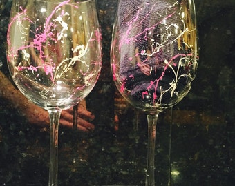 Splatter Wine Glass