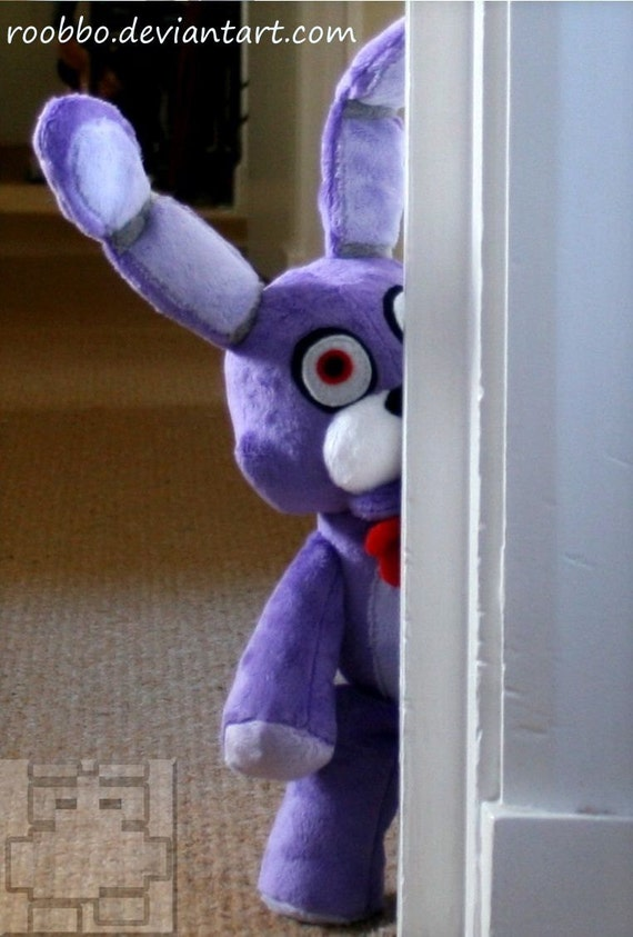 Five nights at freddy s bonnie plush by roobbo on etsy
