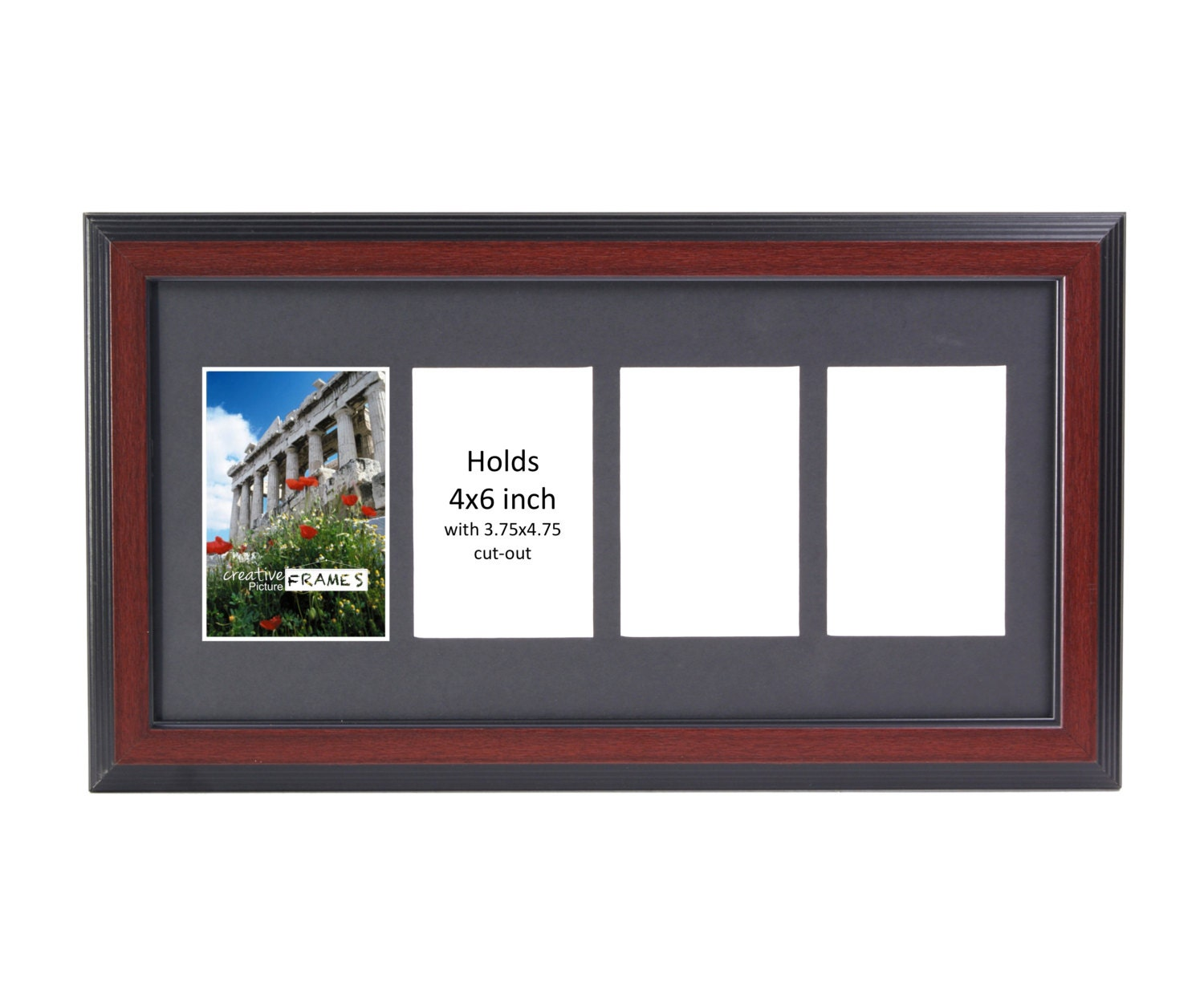 mahogany picture frame 2 3 4 5 6 7 8 9 10 opening glass face. Black Bedroom Furniture Sets. Home Design Ideas