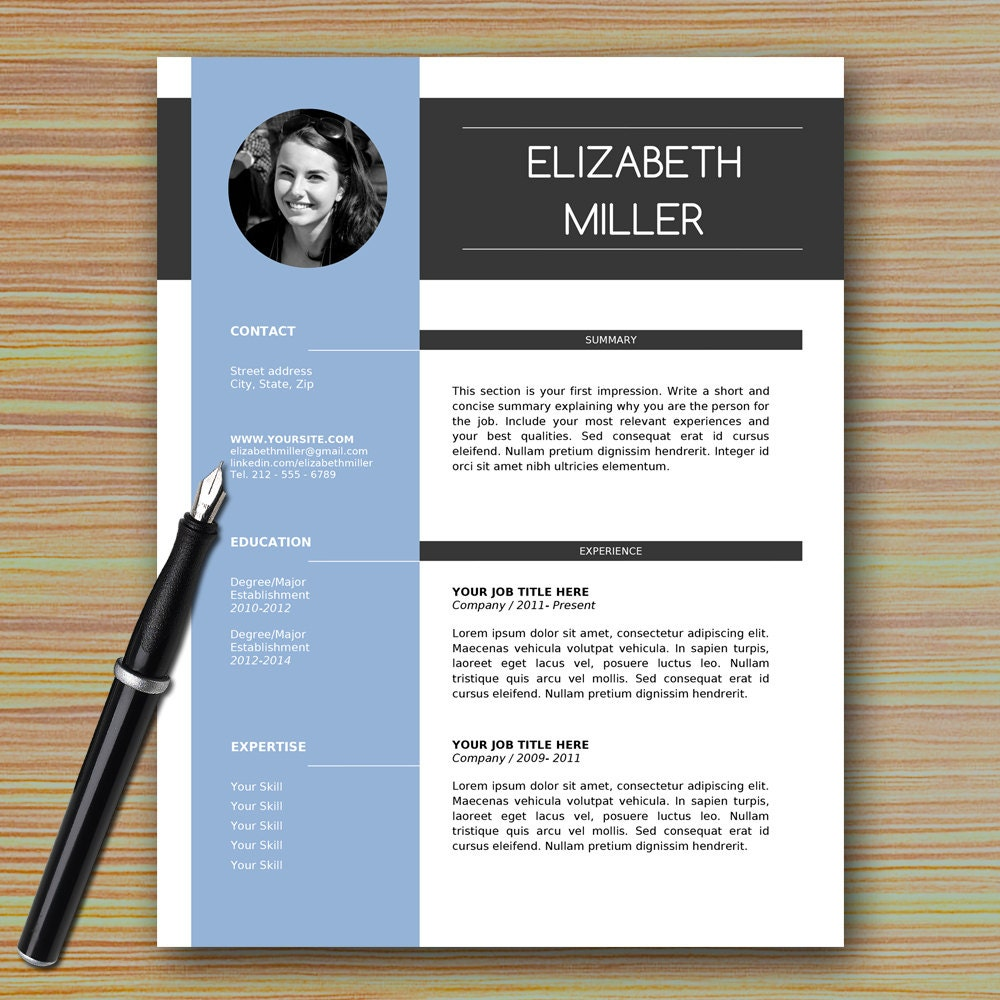 Professional Resume Template Microsoft Word: Professional Modern Resume Template For Microsoft Word