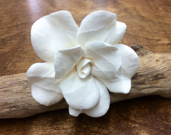 Gardenia Flower Hair Pick