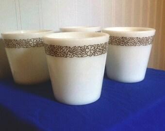 Pyrex mugs - Woodland Brown pattern