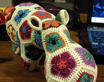 Handmade Crochet African Flowers Happypotamus