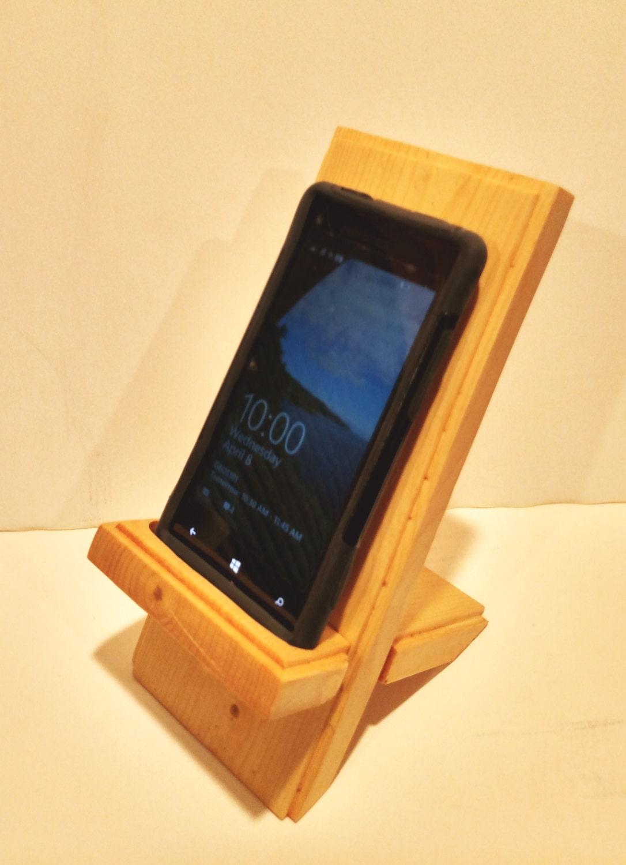 Phone Stand Wood Phone Stand iPhone Stand by VitaminRWoodworking