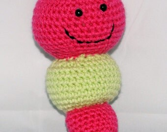 Caterpillar Amigurumi Crochet Rattle