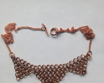 Chainmaille Copper Necklace