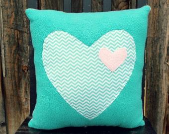 heart pillow, heart cushion, decorative pillow, gift