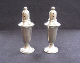 Vintage Pewter Salt and Pepper Shakers  Empire #741