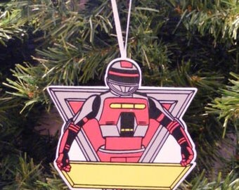 Vintage Red VR Trooper Wooden Christmas Ornament