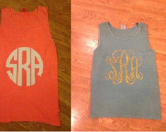 Monogrammed Comfort Color Tanks